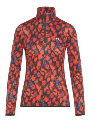 Great mid layer in technical quick drying jersey with Bridge embroidery on chest and back of neck.Garment worn fitted (Neat cut)1-way half zipElastic edge tape at bottom hem and cuffsThe model is 170cm and wears a size S90% Polyester, 10% Spandex