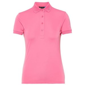 J Lindeberg Ladies Tour Tech TX Polo Shirt Pop Pink