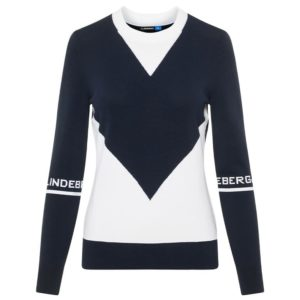 J Lindeberg Ladies Celine Viscose Sweater Navy