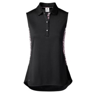 Daily Sports Beth Sleeveless Polo Shirt Black