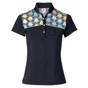 Daily Sports Sofia Cap Sleeve Polo Shirt Navy