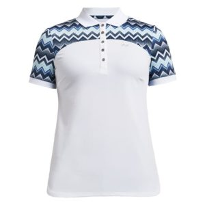 Rohnisch Element Block Polo Shirt Zigzag Blue