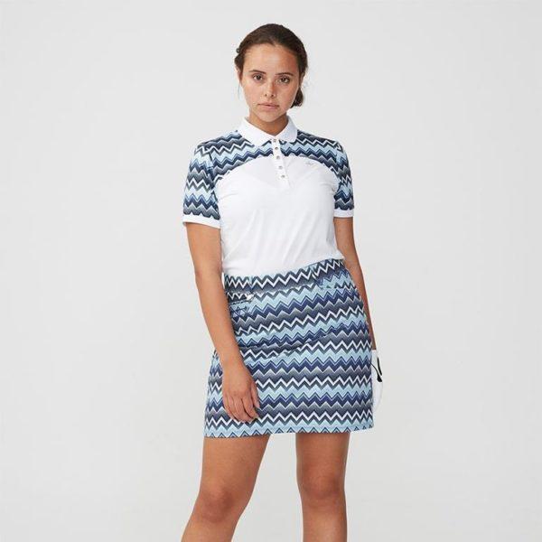 Rohnisch Element Block Polo Shirt Zigzag Blue