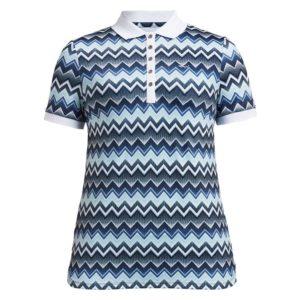 Rohnisch Element Polo Shirt Zigzag Blue