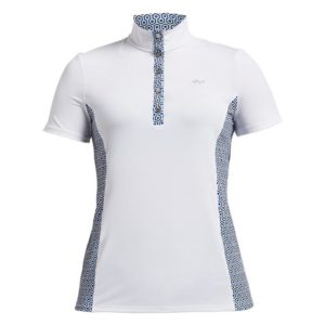 Rohnisch Bliss Polo Shirt Geo Comb Blue