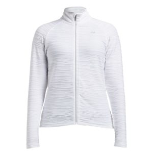 Rohnisch Wave Mid Layer Jaquard Pattern Jacket White