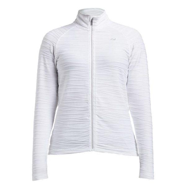 Rohnisch Wave Mid Layer Jaquard Pattern Jacket White