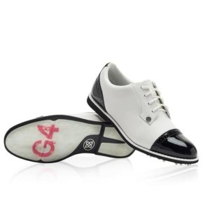 G Fore Cap Toe Gallivanter Ladies Golf Shoes Snow/Onyx