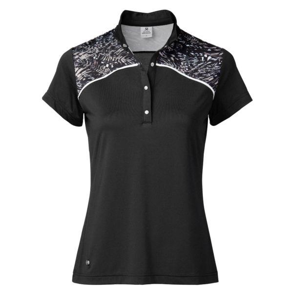 Daily Sports Luna Cap Sleeve Ladies Golf Polo Shirt Black