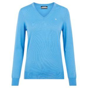 J Lindeberg Amaya V-Neck Merino Wool Ladies Golf Sweater