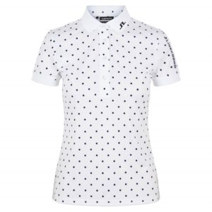 J Lindeberg Tour Tech Ladies Golf Polo Shirt Polka Dot