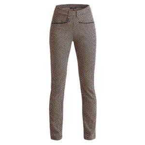 Rohnisch Smooth Ladies Golf Pants Beige/Black Check 30 Inch Leg