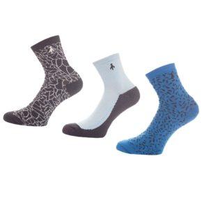 Green Lamb Patterned Ladies Golf Socks Navy/Powder/Sky