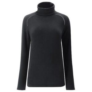 Chervo Titikaka Roll Neck Thermal Ladies Base Layer Black