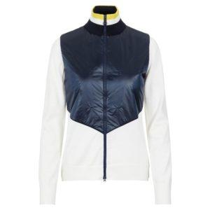 J Lindeberg Luna Knitted Ladies Hybrid Sweater White