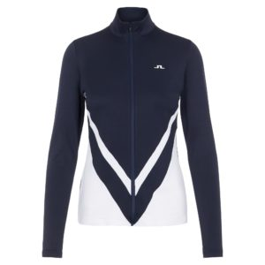 J Lindeberg Shannon Chevron Ladies Golf Mid Layer Navy