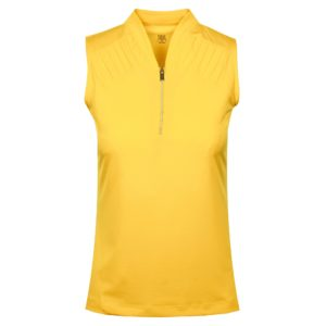 Tail Saige Ladies Sleeveles Golf Polo Shirt Aspen Gold-XL