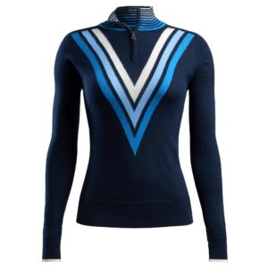 G/Fore Triple V Quarter Zip Ladies Golf Sweater Twilight-XL