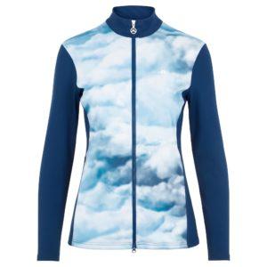 J Lindeberg Annie Ladies Golf Mid Layer Cloud/Midnight/Summer Blue-L