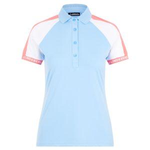 J Lindeberg Perinne Ladies Golf Polo Shirt Summer Blue-XL