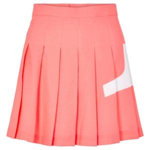 J Lindeberg Naomi Bridge Ladies Golf Skirt Tropical Coral-XL