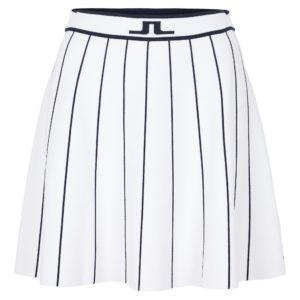 J Lindeberg Bay Knitted Ladies Golf Skirt White-XL