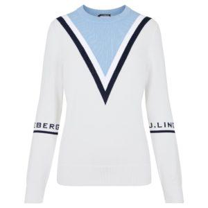 J Lindeberg Stina Ladies Golf Sweater White-XL