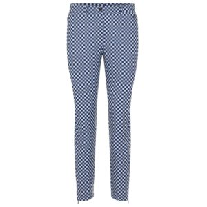 J Lindeberg Dana Print Ladies Golf Pant Navy Gingham-31