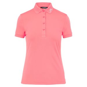 J Lindeberg Tour Tech Ladies Golf Polo Shirt Tropical Coral-XL