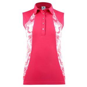 Daily Sports Adelina Sleeveless Polo Shirt Fruit Punch-XL
