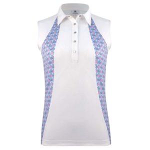 Daily Sports Sue Sleeveless Polo Shirt White-XL
