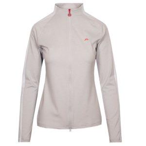 J Lindeberg Marie Ladies Golf Mid Layer Light Grey Melange-XL