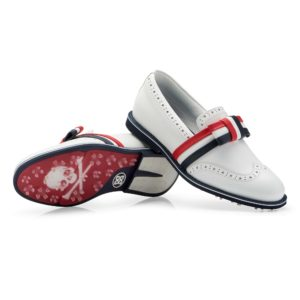 G/Fore Ribbon Brogue Cruiser Ladies Golf Shoe Snow-7.5