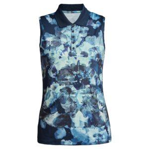 Rohnisch Direction Sleeveless Polo Shirt Blue Utopia-XL