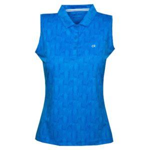 Calvin Klein Avon Ladies Golf Sleeveless Polo Shirt Yale Blue-14