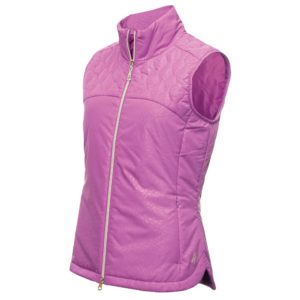 Green Lamb Khloe Quilted Panel Ladies Golf Gilet Violet-14