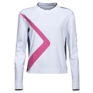 Cross Course Crew Neck Ladies Golf Sweater White-XL