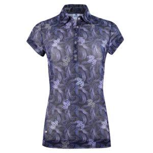 Daily Sports Luisa Mesh Cap Sleeve Polo Shirt Navy-XL