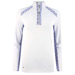 Daily Sports Sue Long Sleeve Polo Shirt White-L