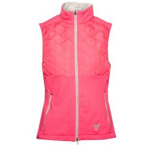Girls Golf Techy Vest Body Warmer Pink-XL